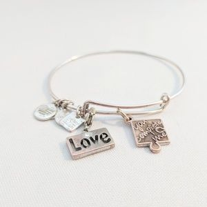 "Alex and Ani Silver ""You Complete Me"" Bracelet"